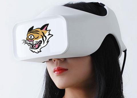 VR Headset with the EYEYAH! tiger
