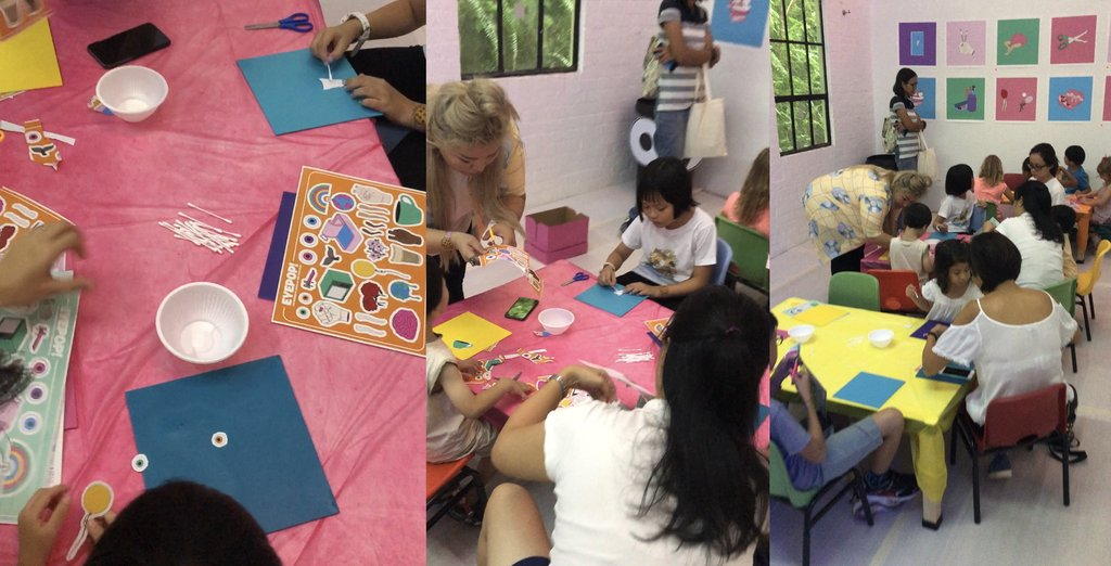 GIF & Collage workshops were facilitated by Chloe herself. Participants were given graphic elements from Chloe's art and tasked to convey a social message with imagery.