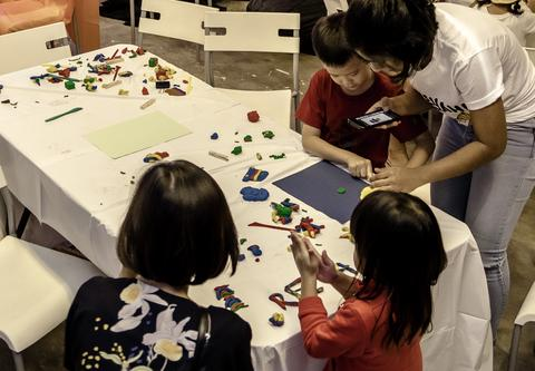 We had more than 50 children join us over two sessions to create fun Claymation GIFs
