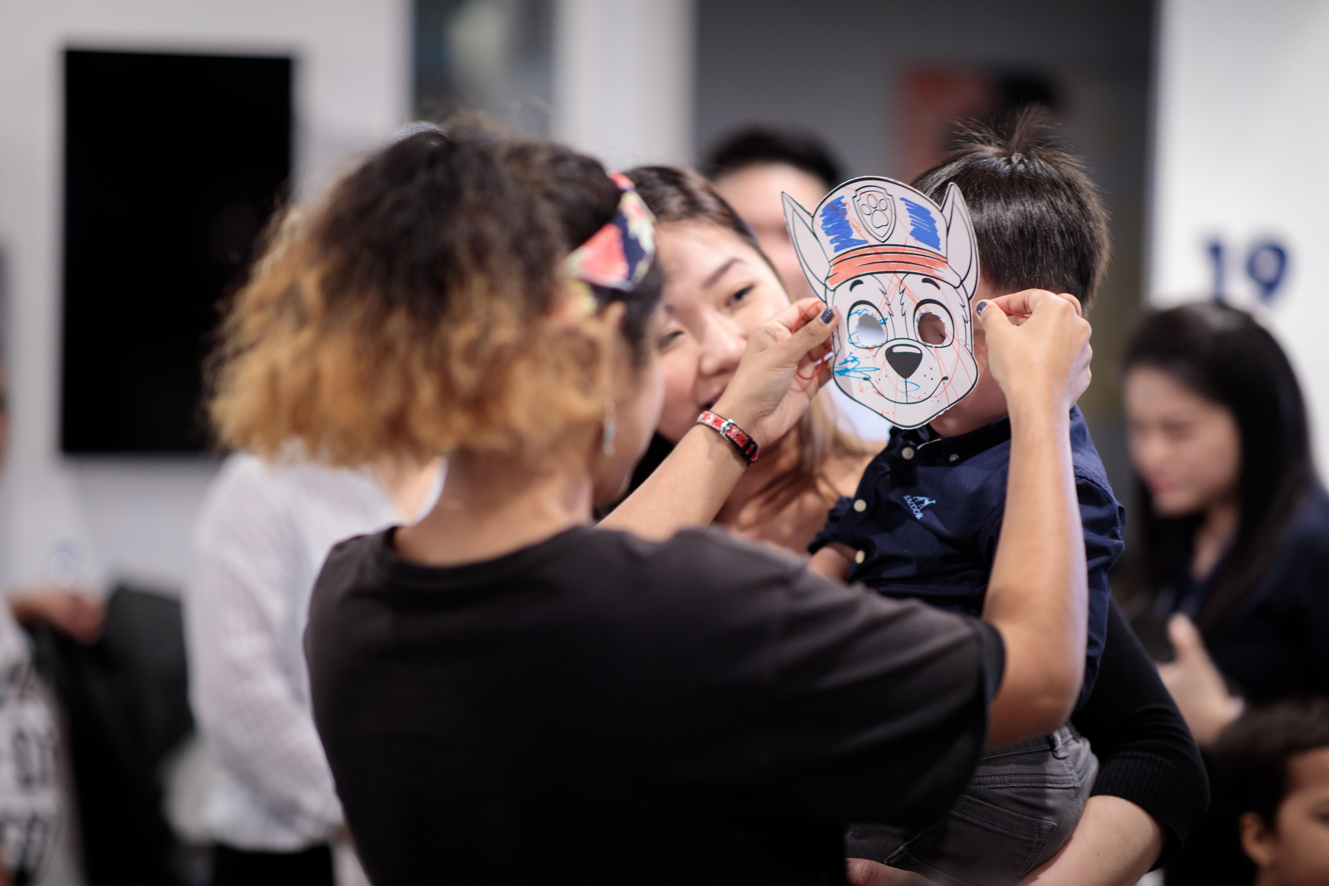 Making Paw Patrol masks