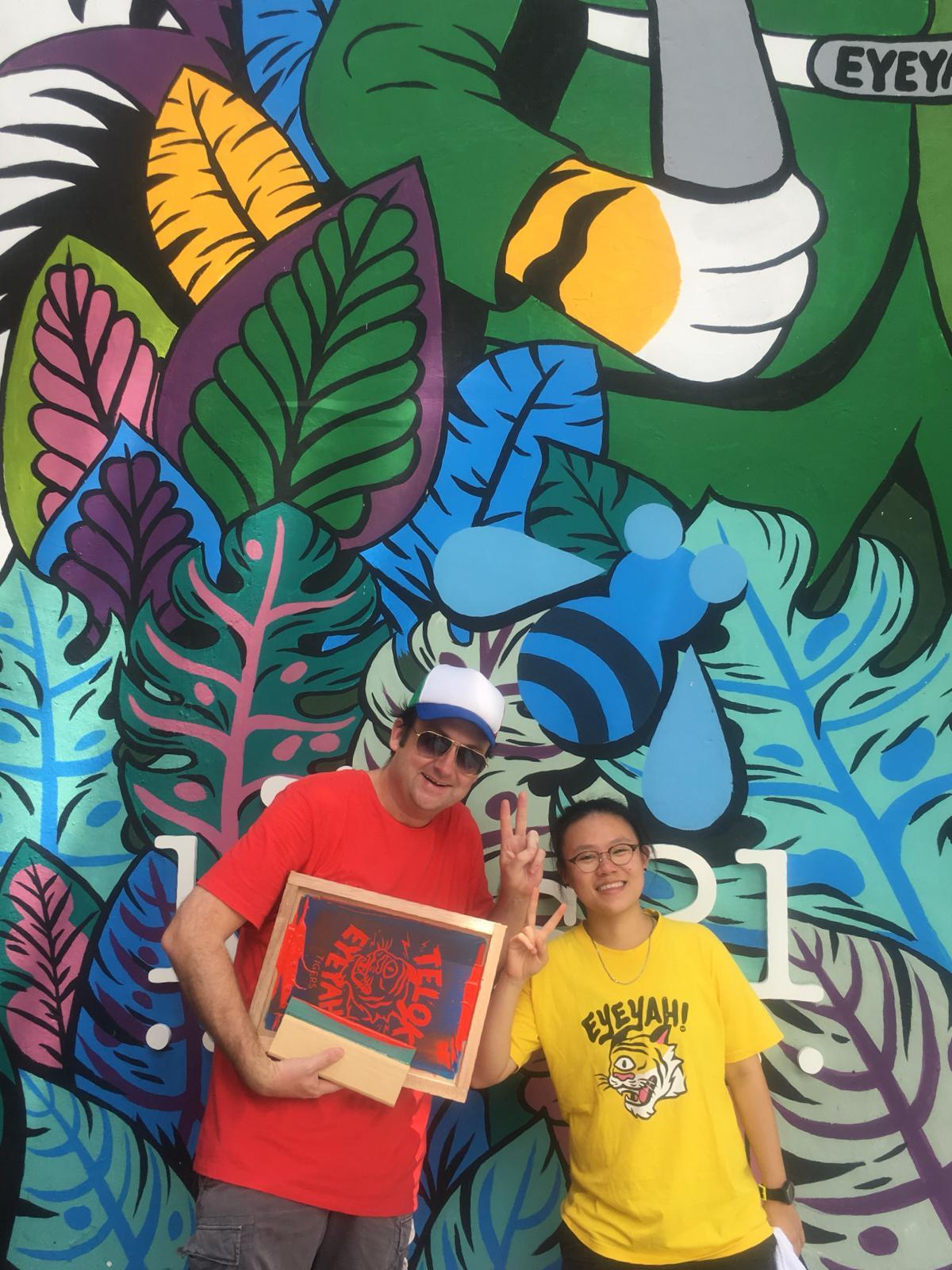 Co-founder Steve Lawler and creative Brenda Tan at the Kids21 x EYEYAH pop-up